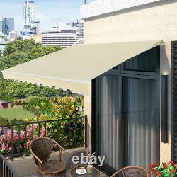 2.5x3m Patio Awning Manual Garden Canopy Sun Shade Retractable Shelter Outdoor