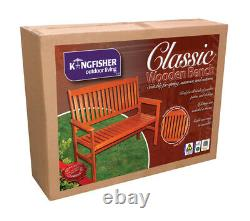 2 Seater 120cm Wide Traditional Hardwood Garden / Patio Bench