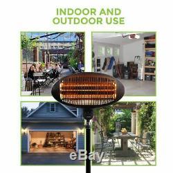 2kw Outdoor Free Standing Waterproof Garden Patio Heater Quartz 2000w Electric
