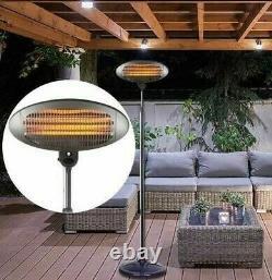 2kw Patio Heater Garden Free Standing Electric Warmer Outdoor Quartz 2000w 240v