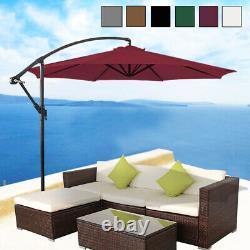 3M Outdoor Garden Banana Parasol Sun Shade Patio Hanging Umbrella Cantilever