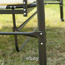 3 Seater Swing Chair 2-in-1 Hammock Bed Patio Garden Cushion Outdoor with Canopy