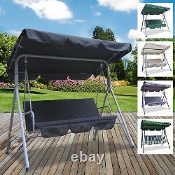 3 Seater Swinging Hammock Bench Seat Outdoor Garden Patio Furniture Steel Frame