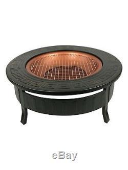3 in 1 Fire Pit BBQ Brazier Round Stove Patio Heater Outdoor Garden Firepit New