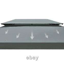 3m x 4m Garden Gazebo Outdoor Party Tent Marquee Canopy Pavilion Patio Grey