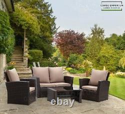 4 Seater Garden Sofa Furniture Set Outdoor Patio Conservatory Armchairs 4 Piece