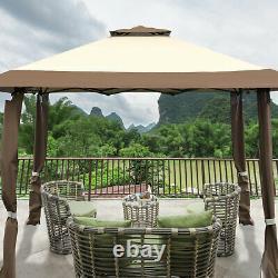 4 x 4m Pop up Outdoor Garden Gazebo Canopy Party Tent Patio Shelt 2-Tier Roof