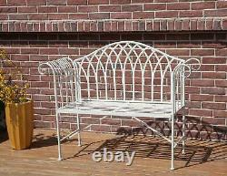 BIRCHTREE 2 Seater Garden Bench Chair Metal Ornate Vintage Patio Outdoor MGB03