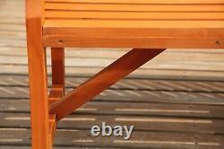 BIRCHTREE Garden Bench 3 Seater Chair Wood Patio Deck Patio Park Outdoor WGB02