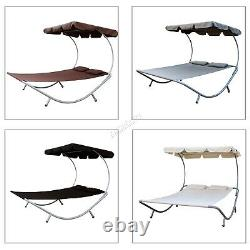 BIRCHTREE Garden Outdoor Patio Double Sun Lounger Day Bed Hammock Canopy SDB08