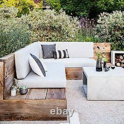 Bespoke Garden Patio Furniture Outdoor Seating Wooden Reclaimed Wood Rustic Seat
