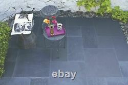Black Limestone Paving Patio Slabs 22mm Garden Calibrated Mix Size 18.9 m2 Pack