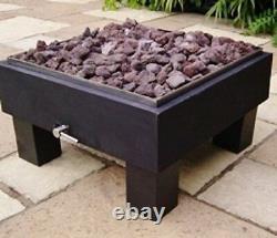 BrightStar Fires, VEGA LPG Gas Fire Pit outdoor garden patio heater 18kw UK