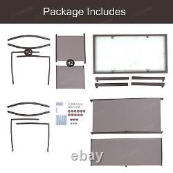 Brown Garden Table and 4 Chairs Set Patio Corridor Outdoor Large Seating Dining