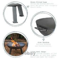 Cast Iron Garden Fire Pit Outdoor Garden Back Yard Patio Heater 97cm Black