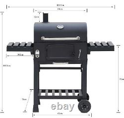 CosmoGrill Barbecue BBQ Outdoor Charcoal Smoker XL Portable Grill Garden