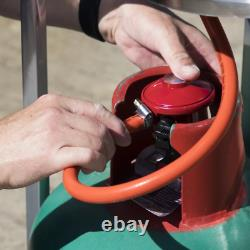 Dellonda 13kW Stainless Steel Commercial Gas Outdoor Garden Patio Heater, Wheels