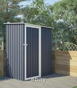 Evre 6ft Storage Outdoor Patio Garden Shed With Lockable Door