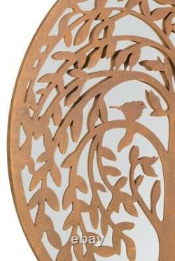 Extra Large Round Mirror Tree of Life Garden Outdoor Mirror 100x100 CM 3ft3x3ft3