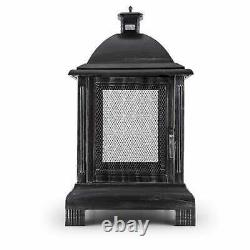 Fire Pit Patio Heaters BBQ Outdoor Garden Basket Stove Lantern Fireplace Antique