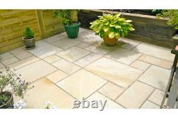 Fossil Mint Sandstone Slabs Indian Paving 22MM Calibrated 15.25m2 Patio Mix Pack