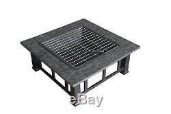 FoxHunter Firepit Outdoor Garden Patio Heater Stove Fire Pit Brazier BBQ