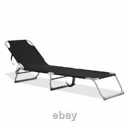 Garden Folding Chair Sun Lounger Bed Outdoor Recliner Seat Beach Camping Patio