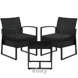 Garden Furniture Set Patio Set Outdoor Patio Furniture 2Chairs 1Table GGF010B02