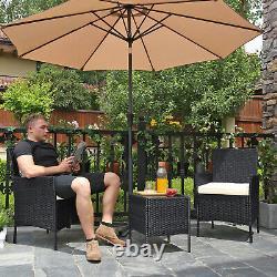 Garden Furniture Sets, Polyrattan Outdoor Patio Furniture Chairs Table GGF001B01
