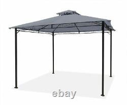 Garden Gazebo Grey Party Shelter Patio Shade Outdoor Sun Canopy 3m x 3m
