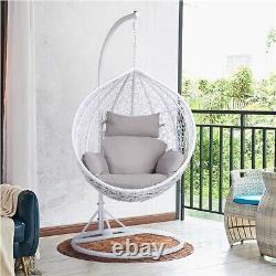 Garden Hanging Egg Swing Chair Patio Rattan Hammock Furniture Indoor Outdoor