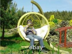 Garden Pod Chair, Hammock, Cocoon, Egg, chair, Wooden Outdoor Swing, Patio, relax