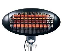 HEATSURE Standing Patio Heater Outdoor Garden Electric Heating Quartz 2KW