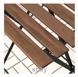 Ikea Trano 3 Piece Folding Metal Outdoor Garden Patio Furniture Table & Chairs
