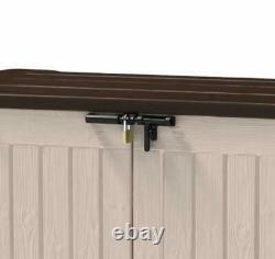 Keter Extra Large Outdoor Garden Patio Tool Storage Box Utility Cabinet Cupboard