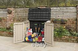 Large KETER Outdoor Garden Storage Shed Garage Backyard Utility Patio Bikes Tool
