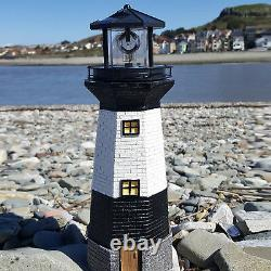 Large Solar Powered Lighthouse Rotating Led Bulb Garden Ornament Patio New Light