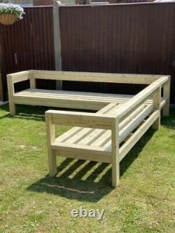 Large Wooden Outdoor Sofa Garden/ Patio, Bespoke Sizes