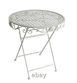 Metal Garden Bistro Set Patio Furniture Foldable Outside Table Chairs 3 Piece