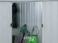 Metal Garden Storage Unit Shed Outdoor Bike Tools Patio 6 X 4Ft Lockable Doors