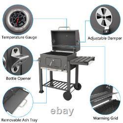 New Charcoal BBQ's Heat Indicator Barbecue Outdoor Garden Patio Grills Grey UK