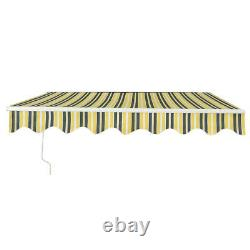 New Retractable Manual Awning Canopy Outdoor Patio Garden Sun Shade Shelter