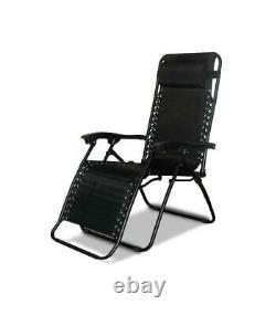 New Textile Reclining Garden Chair Outdoor Patio Furniture Folding Sun Lounger