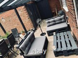 Outdoor Patio Grey Garden Pallet Furniture