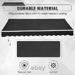 Outsunny 3 x 2m Outdoor Aluminium Frame Awning Garden Shelter Patio Canopy Grey