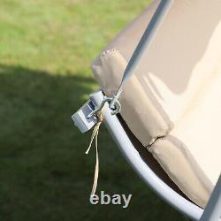 Outsunny Garden Metal 3 Seater Swing Chair Heavy Duty Patio Hammock Bench Canopy