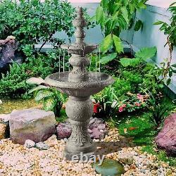 Peaktop Outdoor Garden Patio Decor Tier Water Fountain Cascade Feature