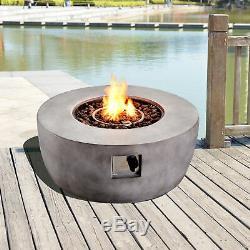 Peaktop Outdoor Garden Patio Round Concrete Propane Gas Fire Pit HF36501AA-UK