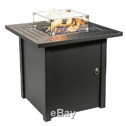 Peaktop Outdoor Garden Patio Square Steel Gas Fire Pit HF45701AA-S-UK