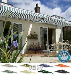 Primrose Patio Awning Manual Garden Canopy Sun Shade Retractable Shelter Outdoor